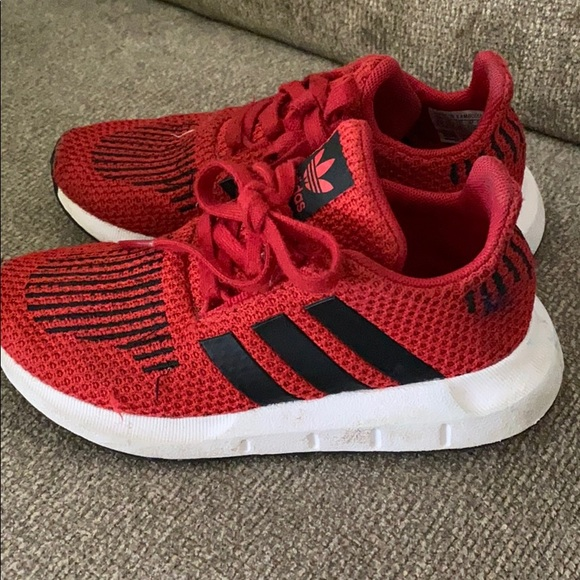 Red Adidas Kids shoes